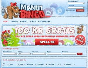 100 kr gratis - mamut bingo